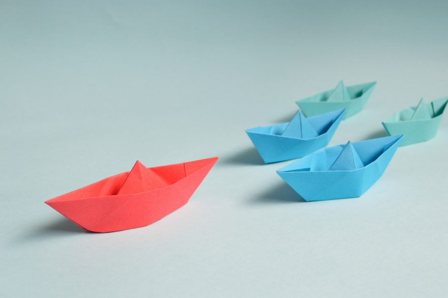leadership represented by boats